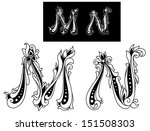 capital letters m and n in...   Shutterstock .eps vector #151508303