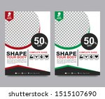 fitness flyer template. poster...   Shutterstock .eps vector #1515107690