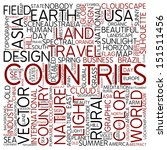 word cloud   countries | Shutterstock . vector #151511456