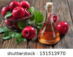 Apple Cider Vinegar In Glass...