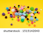 Some Felt Balls  Of Various...