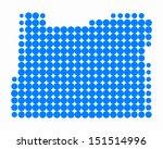 map of oregon | Shutterstock .eps vector #151514996