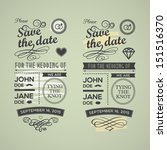 wedding invitations badges | Shutterstock .eps vector #151516370