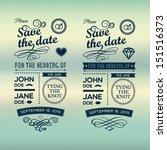 wedding invitations badges   Shutterstock .eps vector #151516373