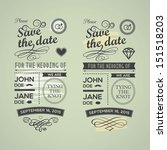 wedding invitations badges | Shutterstock . vector #151518203