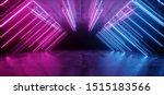 Neon Glowing Purple Blue...