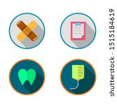 medical flat icon set  with...