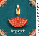 greeting card for diwali... | Shutterstock .eps vector #1515185393