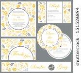 set of wedding invitation cards ... | Shutterstock .eps vector #151526894