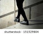Stepping into bright future - stock photo