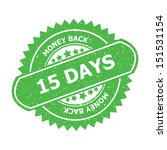 15 days money back symbol. jpg... | Shutterstock . vector #151531154