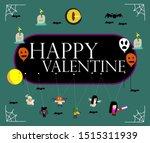 happy valentine  beautiful... | Shutterstock .eps vector #1515311939