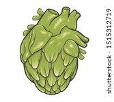 Green Heart Hop Cone. Hop Cone...