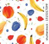 fruits seamless pattern vector. ...   Shutterstock .eps vector #1515317099