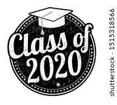 class of 2020 grunge rubber...   Shutterstock .eps vector #1515318566