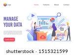 data management flat vector...