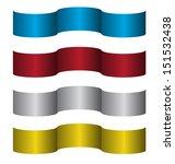 set of  vector ribbons   Shutterstock .eps vector #151532438