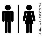 male female toilet restroom... | Shutterstock .eps vector #1515394226