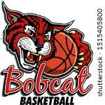 bobcat basketball team design... | Shutterstock .eps vector #1515405800