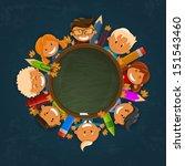 happy children. back to school... | Shutterstock .eps vector #151543460