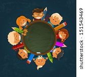 happy children. back to school... | Shutterstock .eps vector #151543469
