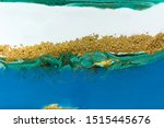 white  blue and gold marble... | Shutterstock . vector #1515445676