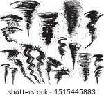 set of tornado and typhoon.... | Shutterstock .eps vector #1515445883
