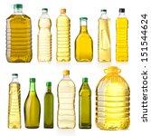 olive oil bottles isolated on... | Shutterstock . vector #151544624