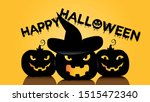 happy halloween vector... | Shutterstock .eps vector #1515472340
