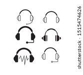 headphone icon vector in set...   Shutterstock .eps vector #1515474626