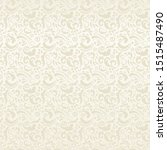 seamless cream floral pattern ... | Shutterstock .eps vector #1515487490