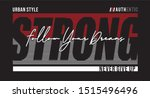 strong typography for print t... | Shutterstock .eps vector #1515496496