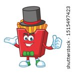 magician french fries cartoon... | Shutterstock .eps vector #1515497423
