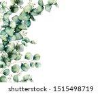 Watercolor Card With Eucalyptus ...