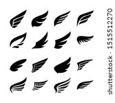 wing icon set. set of vector... | Shutterstock .eps vector #1515512270
