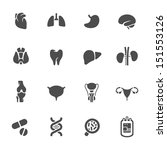 medical icons. human organs. | Shutterstock .eps vector #151553126