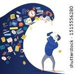 concept of information overload ...   Shutterstock .eps vector #1515556280