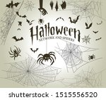 halloween decorative webs and... | Shutterstock .eps vector #1515556520