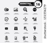 marketing icons black version... | Shutterstock .eps vector #151556279