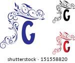 alphabet  letter g | Shutterstock .eps vector #151558820