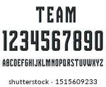 sports players fonts letters... | Shutterstock . vector #1515609233