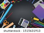 school stationery realistic... | Shutterstock .eps vector #1515631913