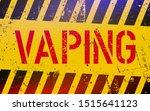 vaping lettering on danger sign ... | Shutterstock .eps vector #1515641123