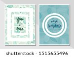 card template leaf pattern... | Shutterstock .eps vector #1515655496