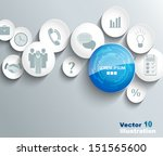 business icons background | Shutterstock .eps vector #151565600