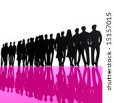 black people silhouette  pink... | Shutterstock . vector #15157015