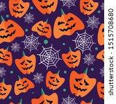 halloween seamless pattern with ... | Shutterstock .eps vector #1515708680