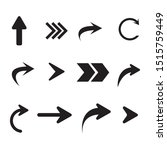 arrow icon collection.... | Shutterstock .eps vector #1515759449