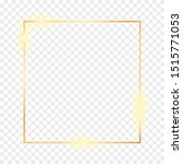 golden frame isolated on a...   Shutterstock . vector #1515771053