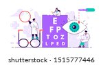 ophthalmology concept. tiny... | Shutterstock .eps vector #1515777446